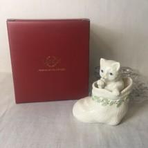"Lenox Christmas Kitty in Stocking Figurine New In Box 3.25"" - $12.86"