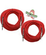 """1/4"""" to 1/4 Male Jack Speaker Cables (2 Pack) by FAT TOAD - 50ft Profess... - $51.95"""