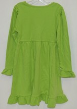 Blanks Boutique Long Sleeve Empire Waist Lime Green Ruffle Dress Size 4T image 2