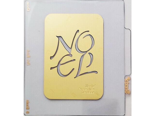Sizzix Metal Embossing Plate, Noel #38-9669