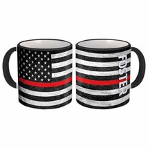FOSTER Family Name : American Flag Gift Mug Firefighter Thin Line Person... - £10.22 GBP+