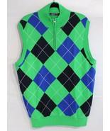 Chpas Golf 78 men's vest pebble be a palm grin half zip size L/G - $21.78
