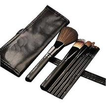 7Pcs Synthetic Foundation Concealers Eye Shadows Makeup Brush Sets(Black)