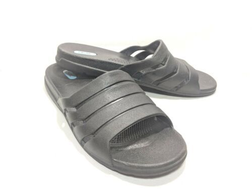 OKA B Slide Sandals Women's Sz M Black Soft Rubber Made in the USA (sb12)