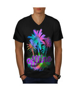Palm Hawaii Sunny Holiday Shirt Vacation Fun Men V-Neck T-shirt - $12.99+