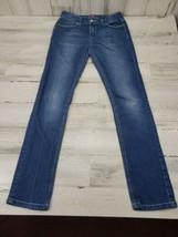 Girls Lee Skinny Size 12 Denim Blue Jeans Adjustable Waist - $9.69