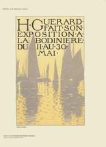 """HENRI GUERARD Exposition a La Bodiniere  11.5"""" x 8.25"""" Lithograph 1897 - $173.25"""