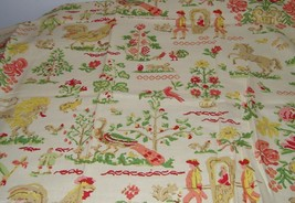1 1/6 Yards Country Print Home Dec Fabric Horse Lion Animals 16678 - $10.08