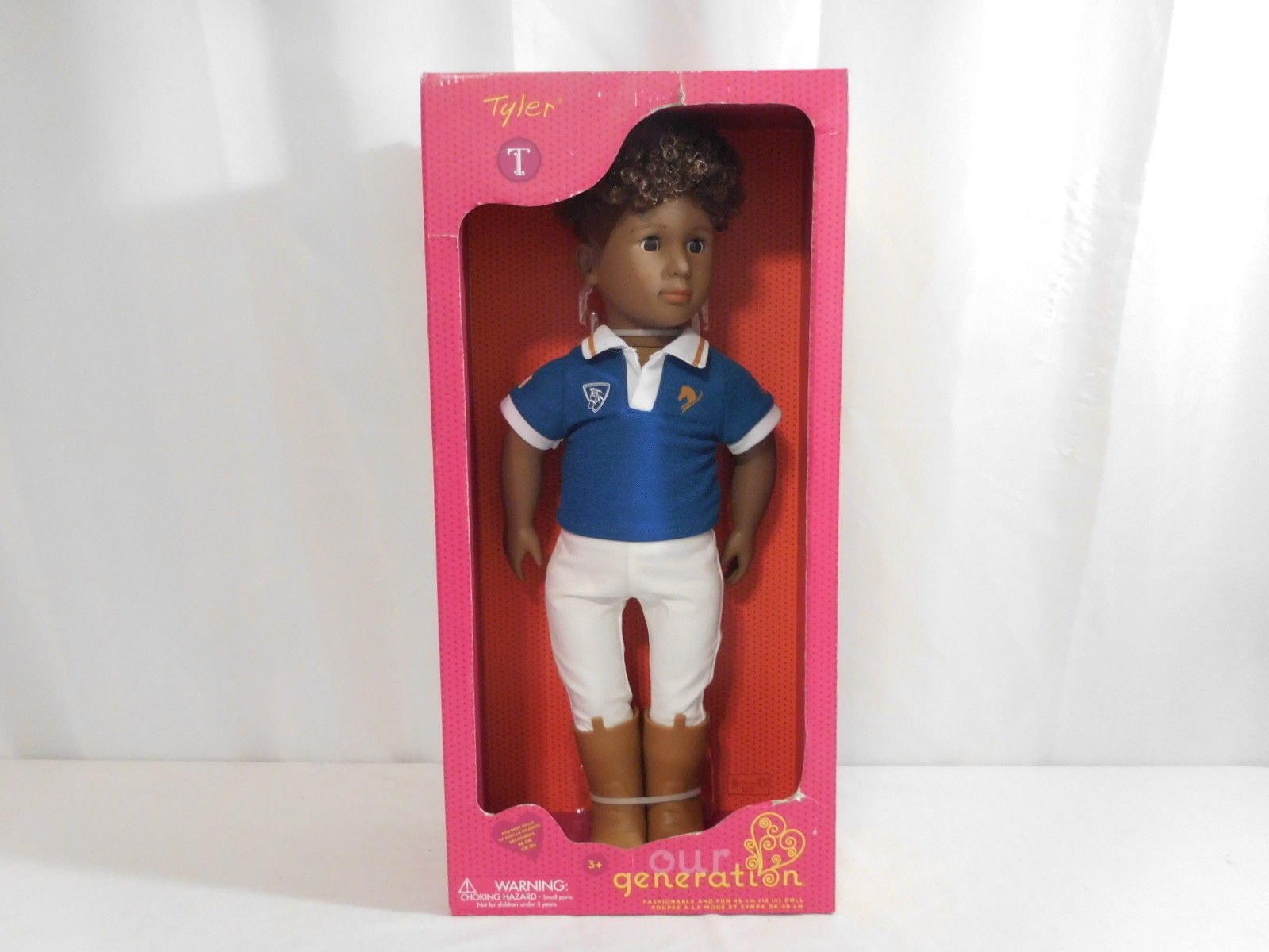 "OUR GENERATION TYLER 18"" AFRICAN AMERICAN BOY DOLL NEW"