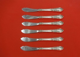 """American Victorian by Lunt Sterling Silver Trout Knife Set 6pc 7 1/2"""" Custom - $377.10"""