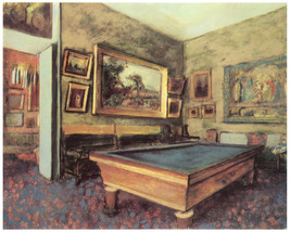 Decor Poster.Wall interior design.Pool table in gallery room.Wall Art.1905 - $11.30+