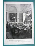 RUSSIA Czar & Czarina 1896 Visit French Academy - VICTORIAN Era Print 14... - $22.95
