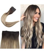 Full Shine Halo Wire In Hair Extensions 12 Inch Balayage Color 3 Fading ... - $35.20