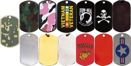 Stainless Steel Dog Tag Stenciled ID Dog Tags - $3.95