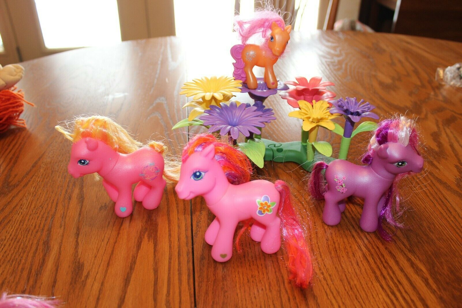Primary image for Hasbro My Little Pony Lot w Beautiful Green toys Flower Island lot pink purple G