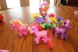 Hasbro My Little Pony Lot w Beautiful Green toys Flower Island lot pink ... - $13.81