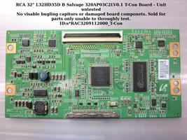 "RCA 32"" L32HD35D B Salvage 320AP03C2LV0.1 T-Con Board - Unit untested - $9.95"