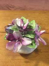 Vintage Royal Albert Bone China Flower Of The Month Violets Flower Bowl ... - $38.62