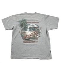 Tommy Bahama Shirt Mens medium Oversized Boxy Baggy Fit Gray Tee Bayou P... - $26.38