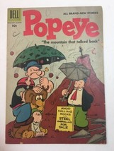 POPEYE #39. Silver Age Dell Comics 1957 cartoon tv show Wimpy - $9.45