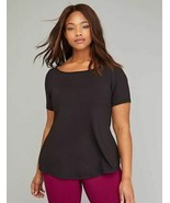 Lane Bryant Livi BLACK Wicking Mesh Back Top Workout Shirt PLUS 26/28 4X... - $34.50