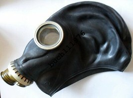 NBC RUSSIAN RUBBER GAS MASK RESPIRATOR GP-5 Black Military size  S, M ,L... - $5.44