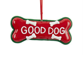 "Kurt S. Adler ""Good Dog"" Claygough Dog Bone Pet Theme Christmas Ornament - $8.88"