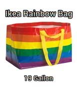 IKEA Rainbow Bag Storage Laundry 19 Gallon Ikea Storstomma Pride Tote New - $4.97