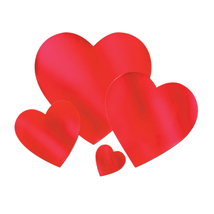 "Beistle Valentines Party Supplies Foil Heart Cutout 15"" - 24 Pack - $41.94"