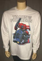 Transformers Officially Licensed Hasbro White Long Sleeve Adult T Shirt ... - $18.96