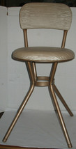 Vintage Mid-Century Swivel Office Chair Metal Frame with Padded Seat & Back - $107.91