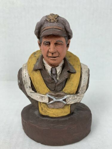 Michael Garman Flying Tigers Bust Pilot WWII Figure 1985 artist signed Aviators