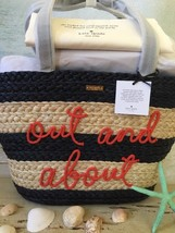 Kate Spade Nwt Shore Thing Out And About Straw Summer Picnic Tote With Dust Bag - $278.00