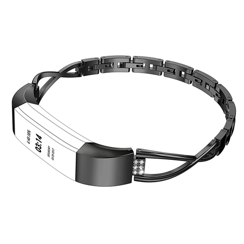 Metal Crystal Watch Band Fashion Luxury Wrist Strap Replacement for Fitbit Alta