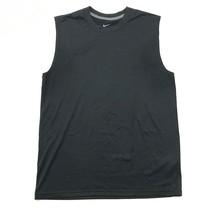 Nuevo Nike HOMBRES M sin Mangas Deportivo Jersey Negro Active - $15.05