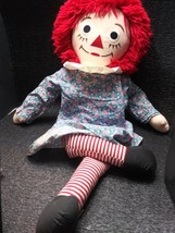 "VINTAGE LARGE 36"" RAGGEDY ANN DOLL IN DRESS 1991 johnny gruelle applause... - $49.99"