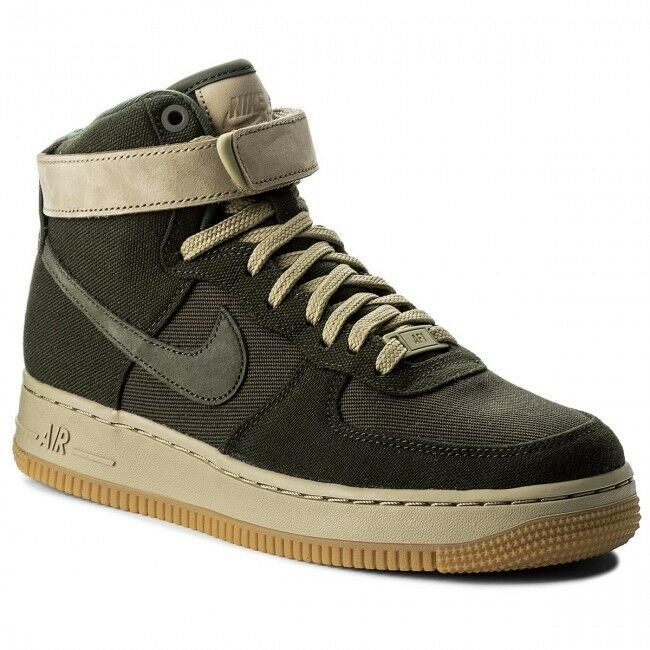 NIKE Women's Air Force 1 Hi UT Shoes Sequoia Olive  AJ2775 300 Size 8