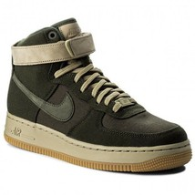 NIKE Women's Air Force 1 Hi UT Shoes Sequoia Olive  AJ2775 300 Size 8 - $35.99