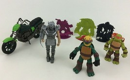 Teenage Mutant Ninja Turtles Action Figures Motorcycle 7pc Lot Playmates... - $19.55