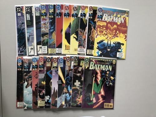 Lot of 21 Detective Comics (1937 1st Series) from #600-672 VF-NM Near Mint