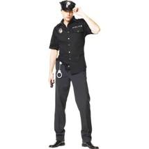 Leg Avenue Men's 4 Piece Policeman Costume, Black, X-Large  - $50.12