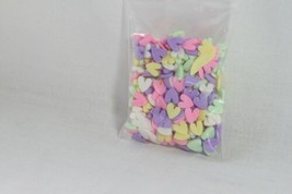 Sprinkletz Embellishments (new) DECO HEARTS - PASTEL COLORED HEARTS - $4.74