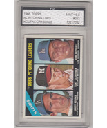 1966 Topps NL Pitching leaders Koufax-Drysdale GMA Graded 9.5 - $111.38