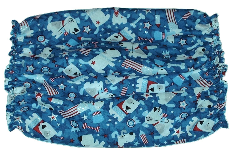 Patriotic Pups Sparkle Cotton Dog Snood Basset Hound Springer Spaniel Size Small