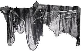 "Moon Boat 287"" x 47"" Black Creepy Cloth with Fake Spider Web- Halloween ... - $29.79"