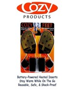 Cozy Feet Heated Shoe Inserts Warm Feet Outdoor Skiing Hunting Snow Ice ... - $29.99