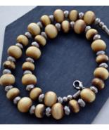 Tribal Bone Necklace, Vintage Necklace, Vintage Tribal Necklace, Bone Be... - $18.99
