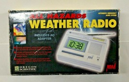 Vintage All Hazards Weather Radio by Oregon Scientific with AC Adapter - $27.95