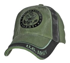 U.S. ARMY WITH ARMY SEAL INSIGNIA - Officially Licensed Baseball Cap Hat - $23.95