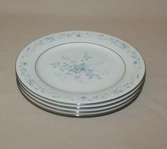 Lot of 4 Noritake Carolyn Salad Plates Pink & Blue Flowers 2693 - $23.71
